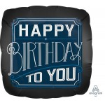 Anagram 18 Inch Happy Birthday Satin Luxe