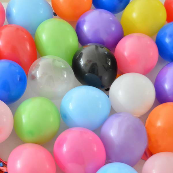 5 Inch Round Balloons - Mytex 5 Inch Mix Colours Latex Round Balloons ~ 100pcs