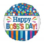 Anagram 17 Inch Happy Boss Day Dots And Strips