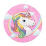 Birthday Party Disposable Unicorn Pony Paper Plates ~ 10pcs