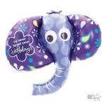 Northstar 42 Inch Birthday Elephant Foil Balloon