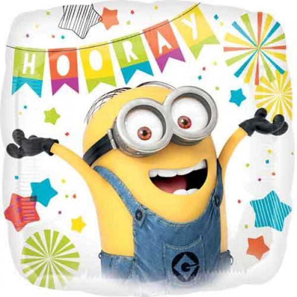 Character Balloons - Anagram 18 Inch Minions Square Birthday Party Balloon