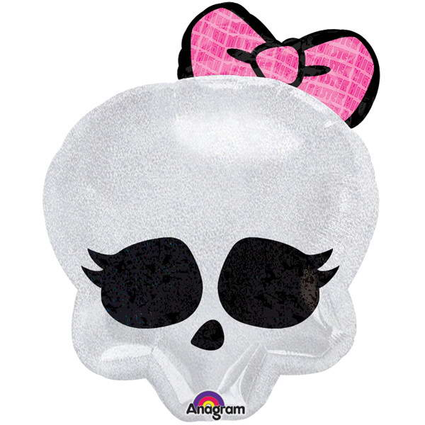 Character Balloons - Anagram 18 Inch Monster High Skull Foil Balloon Junior Shape