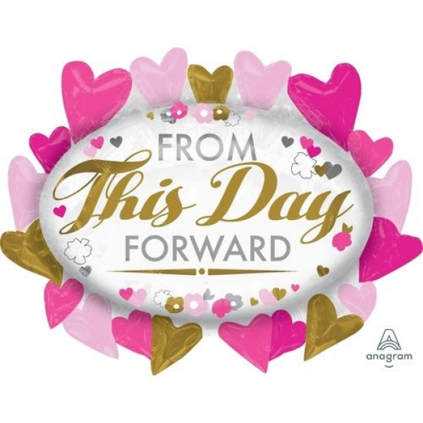 Love & Affection - Anagram 31 Inch SuperShape From This Day Forward Marquee