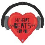 Betallic 32 Inch SuperShape My Heart Beats For You Balloon