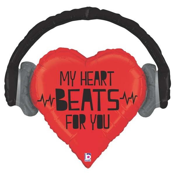 Love & Affection - Betallic 32 Inch SuperShape My Heart Beats For You Balloon