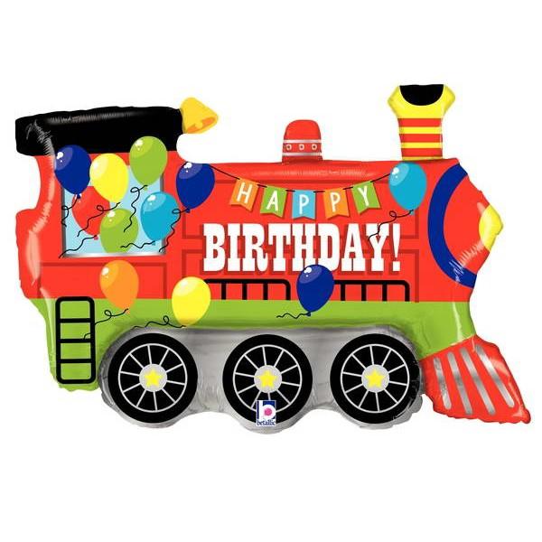 Birthday Balloons - Betallic 37 Inch Birthday Party Train