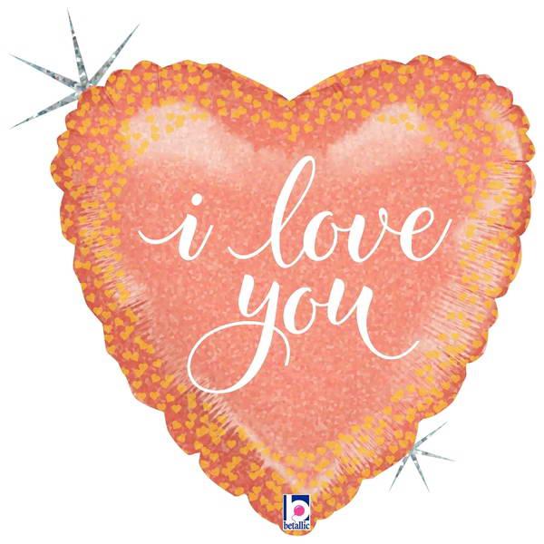 Love & Affection - Betallic 18 Inch Rose Gold Love Foil Balloon