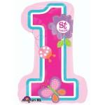 Anagram 28 Inch Sweet Birthday Girl Butterfly Garden 1st Birthday
