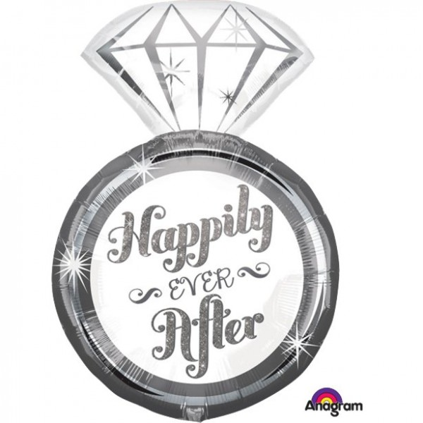 Wedding - Anagram 27 Inch Happy Ever After Foil Balloon