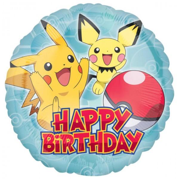 Character Balloons - Anagram 18 Inch Pokemon Happy Birthday Foil Balloon
