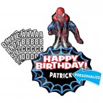 Anagram 34 Inch Personalized Spiderman Birthday Balloon