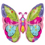 Anagram 25 Inch SuperShape Whimsical Garden Butterfly Balloon