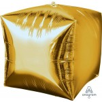 Anagram 15 Inch Ultrashape Cubez Gold Foil Balloon