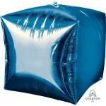 Anagram 15 Inch Ultrashape Cubez Blue Foil Balloon