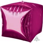 Anagram 15 Inch Ultrashape Cubez Bright Pink Foil Balloon