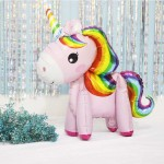 Animals Balloons - 3D Colorful 23 Inch Unicorn Pony Standing Balloon ~ 2pcs