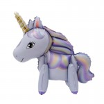 Animals Balloons - 3D Colorful 23 Inch Unicorn Pony Standing Balloon