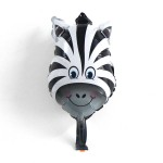 Mytex Mini Shape Zebra Face Balloon ~ 5pcs