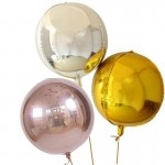 Mytex 22 Inch 4D Round Metallic Foil Balloon