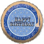 CTI 17 Inch Blue Bandana Birthday Foil Balloon
