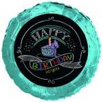 CTI 17 Inch Chalk Birthday Foil Balloon