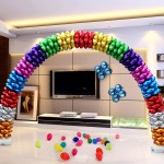 Decorator & Themed - Assorted Color Magic Arch 16 Inch Foil Cluster Balloons ~ 25pcs