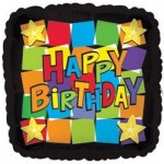 CTI 17 Inch Happy Birthday Dancing Square Foil Balloon