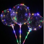 DIY 18 Inch Bobo LED Balloon With 70cm Rod Stick ~ 3pcs