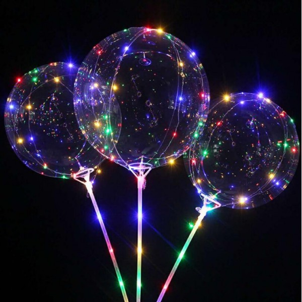 Diy 18 Inch Bobo Led Balloon With 70cm Rod Stick 3pcs