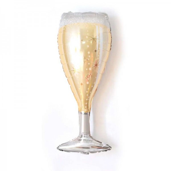 Wedding - Mytex 39 Inch Champagne Glass Foil Balloon ~ 2pcs