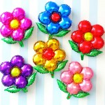 Decorator & Themed - Mytex 18 Inch Flower With Leafs Foil Balloon ~ 5pcs