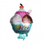 Mytex 29 Inch Happy Birthday Ice Cream Cup ~ 2pcs