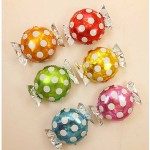 Mytex 22 Inch Polka Dots Candy Foil Balloons ~ 5pcs