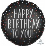 Anagram 18 Inch Happy Birthday to You Satin Dots