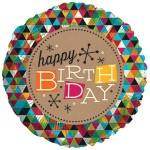 CTI 17 Inch Birthday Kraft Foil Balloon