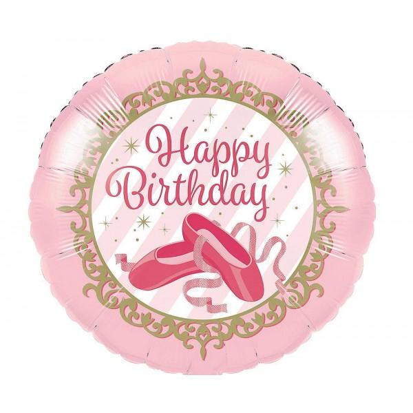 Birthday Balloons - CTI 17 Inch Ballerina Birthday Balloon