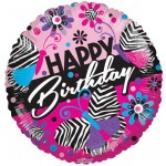 Conver USA 18 Inch PR Zebra Pattern Birthday