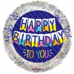 Conver USA 18 Inch Birthday To You Banner Balloon