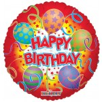 Conver USA 18 Inch Birthday With Printed Balloons