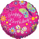 CTI 17 Inch Butterfly Sparkle Foil Balloon
