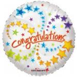 Conver USA 18 Inch Congratulation With Stars Balloon