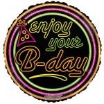 Conver USA 18 Inch Enjoy Your B-Day Neon Gellibean