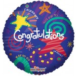 Conver USA 18 Inch Festive Congrats Balloon