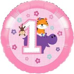CTI 17 Inch One is Fun Pink 1st Birthday Balloon