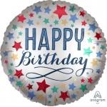 Anagram 18 Inch Birthday Satin With Stars