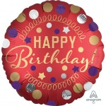 Anagram 18 Inch Red Satin Party Foil Balloon