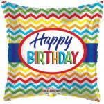 Conver USA 18 Inch Chevron Birthday Balloon