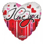 Conver USA 18 Inch I Love You Lines And Hearts Balloon
