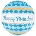Mytex 17 Inch Happy Birthday Blue Shining Balloon ~ 2pcs